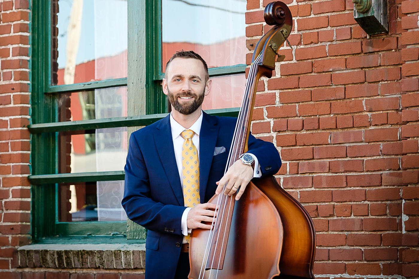 Eric with 1951 Kay M1 Upright Bass